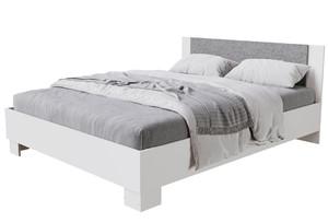 Кровать Нова 160*200 белый/бетон