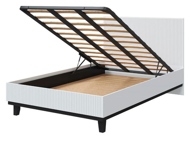Кровать Анталия 80*200 с 2мя ящиками сонома/белый +матрас