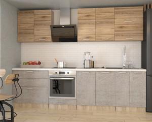 Кухня Бетон 2,8м сонома/бетон снежный