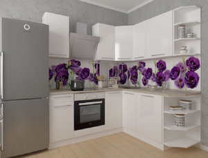 Кухня Ксения 4,0м угловая белый, глянец