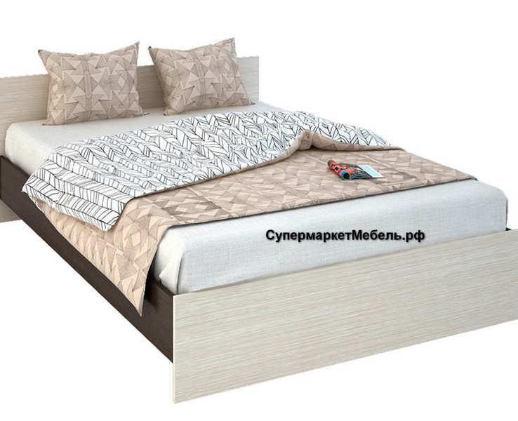 Кровать Бася 120*200см венге/белфорд +матрас