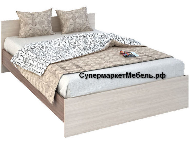 Кровать Бася 120*200см ясень +матрас