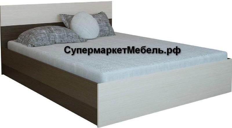 Кровать Юнона 120*200см венге/дуб +матрас*