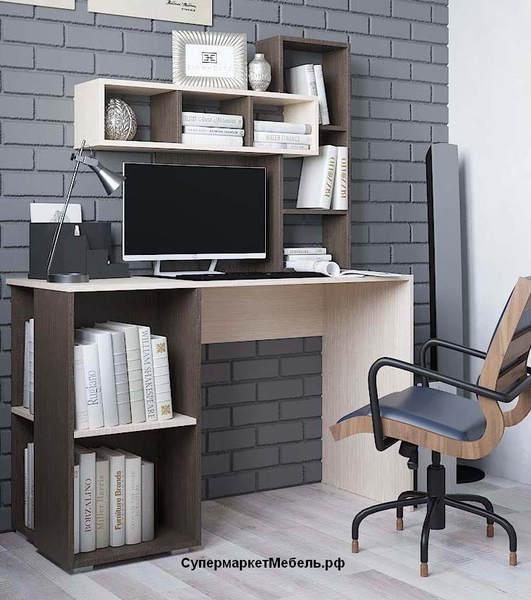 Компьютерный стол Олимп венге/беленый дуб