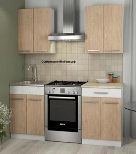 Кухня Алиса1 1,2м сонома/белый