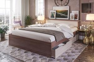 Кровать Гармония 120*200см ясень с ящиками +матрас
