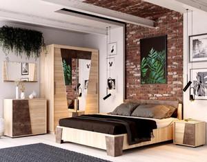Спальня Санремо сонома/ателье +матрас