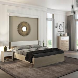 Спальня Светлана 160 сонома/белый +матрас