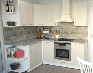Кухня Дина 3,5м угловая дуб белфорд*
