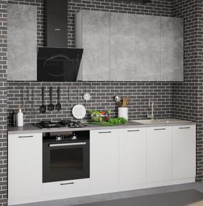 Кухня Равенна Сити 2,6м, ателье светлый/белый жемчуг