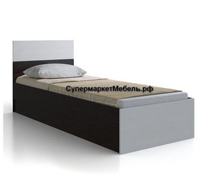 Кровать Юнона 80*200см венге/дуб +матрас