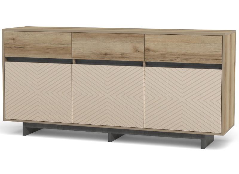 Кухня Ксения 4,9м угловая белый/кофе, глянец