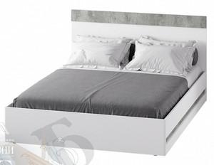 Кровать Инстайл 160*200, белый/метрополитан грей