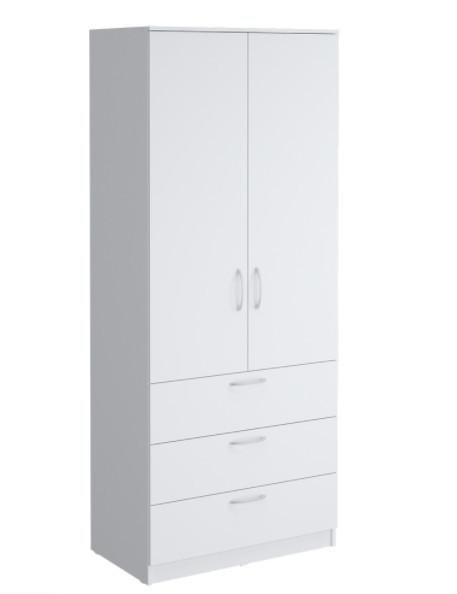 Шкаф Париж900 с ящиками, белый (q21)