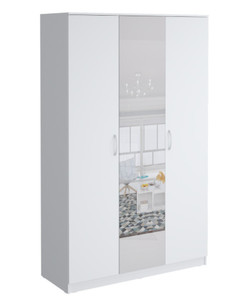 Шкаф Париж1350, с зеркалом белый (q21)