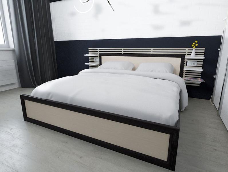 Кровать Модерн 140*200см венге/лоредо +матрас