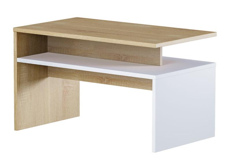 Журнальный стол Лайт 03.235 белый/сонома