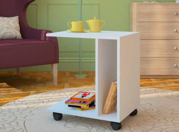 Приставной стол М6 белый