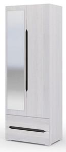 Шкаф Валенсия 2створки с ящиками шк011, анкор/венге