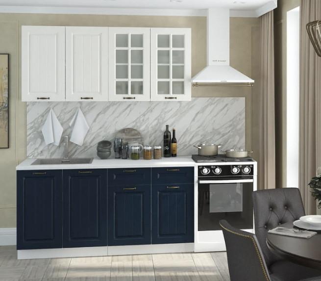 Кухня Мария 1,6м белый/синий