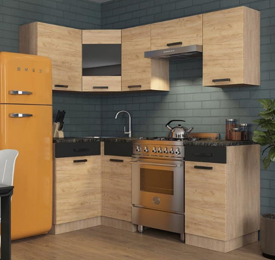Кухня Алиса17 3,1м угловая дуб золотой