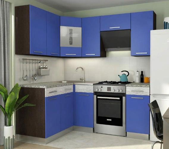 Кухня Алиса-11 3,4м угловая голубой*