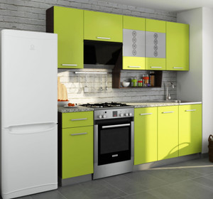 Кухня София6 2,3м лайм