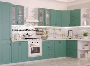 Кухня Модена 5,1м угловая дуб бирюза*