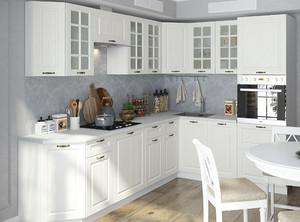 Кухня Мария 4,75м угловая белый*