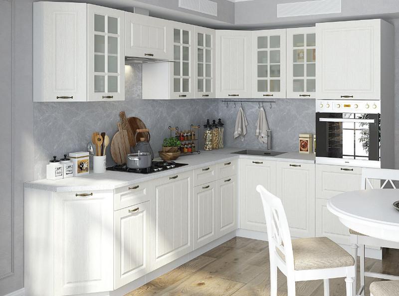 Кухня Мария 4,75м угловая белый
