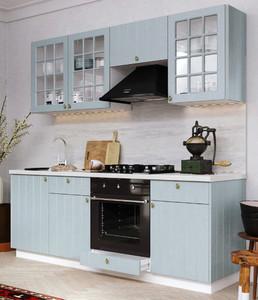 Кухня прованс 2,1м голубой