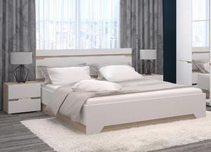 Спальня Анталия мини белый/сонома +матрас*