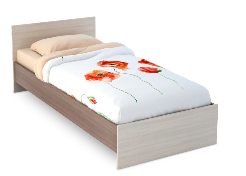 Кровать Бася 90*200 ясень +матрас