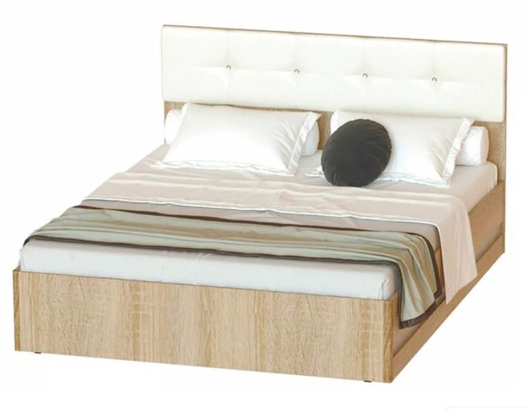 Кровать Белладжио 160*200 сонома/белый +матрас