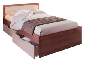 Кровать Гармония 80*200см ясень с ящиками +матрас
