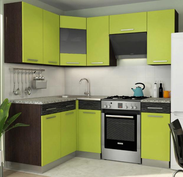 Кухня Алиса11 3,4м угловая лайм*