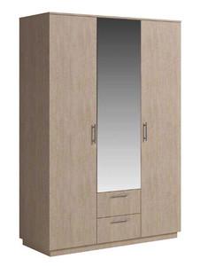 Шкаф Светлана 3двери, ящики, зеркало, сонома