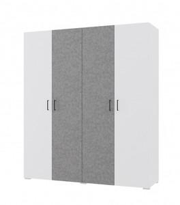 Шкаф Нова 15шм белый/бетон (q6)