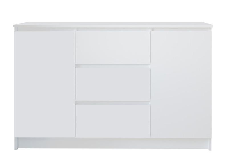 Комод Мори мк1200.3 (3ящика/2двери), белый (q16)