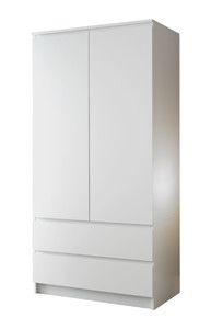 Шкаф Мори 2двери, ящики, белый