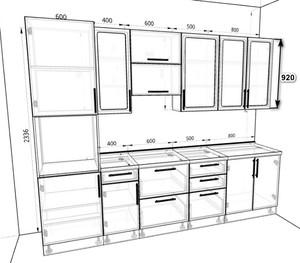 Кухня Ксения 3,6м белый, глянец