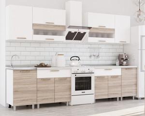 Кухня Айсбери 2,4м сонома/белый*