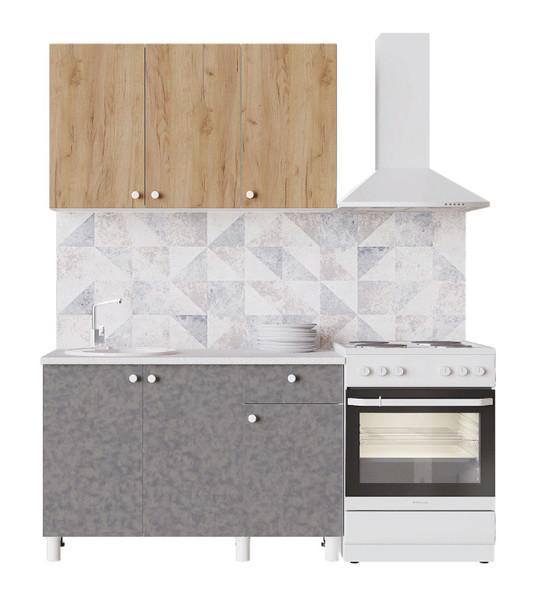Кухня Поинт 1,2м крафт золотой/бетон