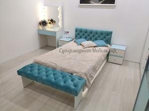 Кровать мягкая Тифани 120*200см кенди/белый*