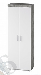 Шкаф Инстайл 2-х створчатый, белый/метрополитан грей