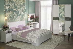 Спальня Сальма 160 анкор/белый глянец