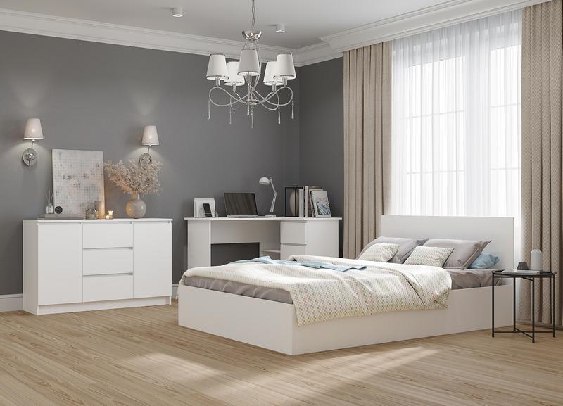 Кровать Мори крм1200.1 120*200, белый (q16)