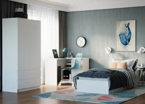 Кровать Мори крм900.1 90*200, белый (q16)