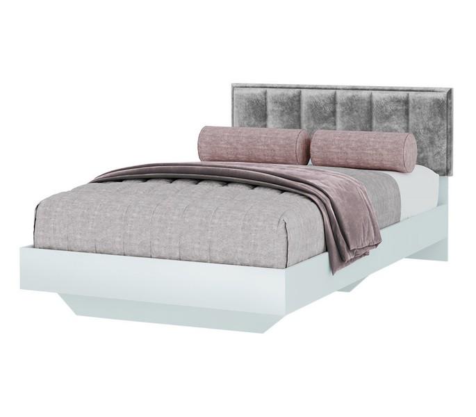 Кровать мягкая Мемори 120*200см белый/серый*