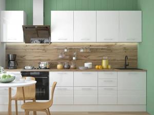 Кухня Люкс 3,0м белый, глянец